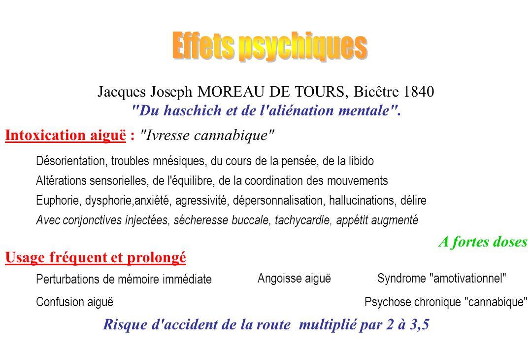 Effets psychiques Jacques Joseph MOREAU DE TOURS, Bicêtre 1840