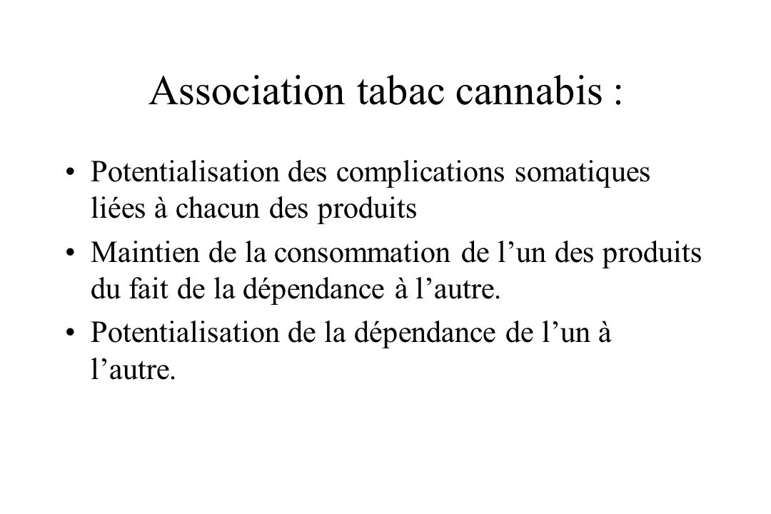 Association tabac cannabis :