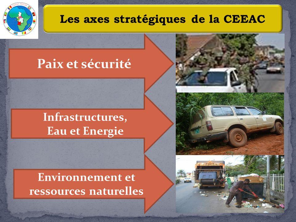 Paix et sécurité Les axes stratégiques de la CEEAC Infrastructures,