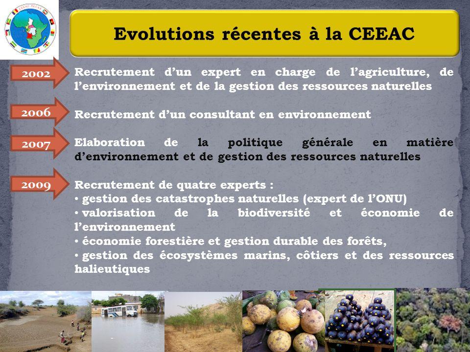 Evolutions récentes à la CEEAC