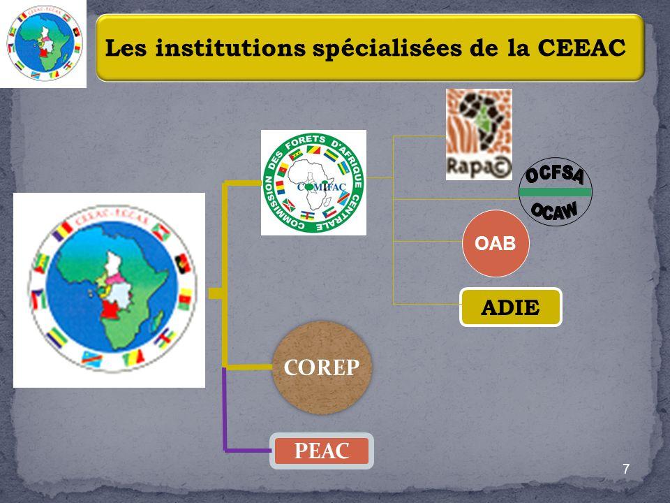 Les institutions spécialisées de la CEEAC