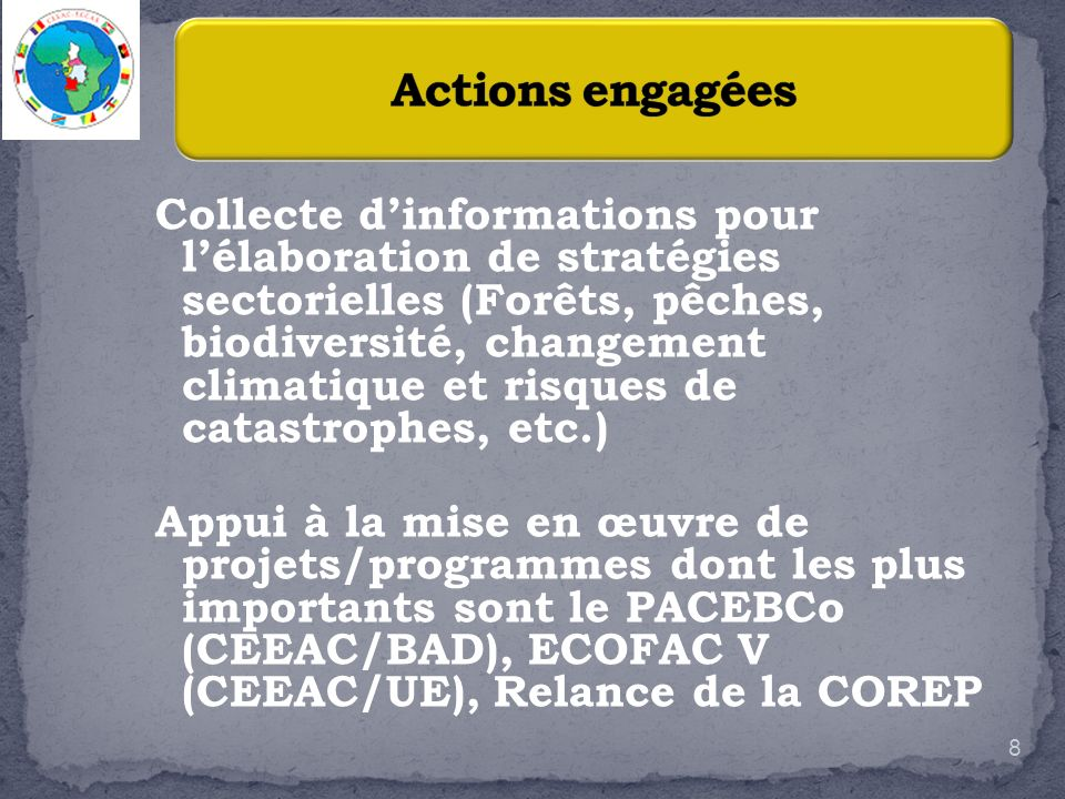 Actions engagées