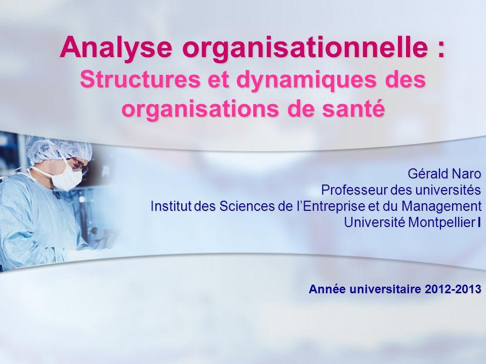 Analyse organisationnelle : Structures et dynamiques des organisations de santé