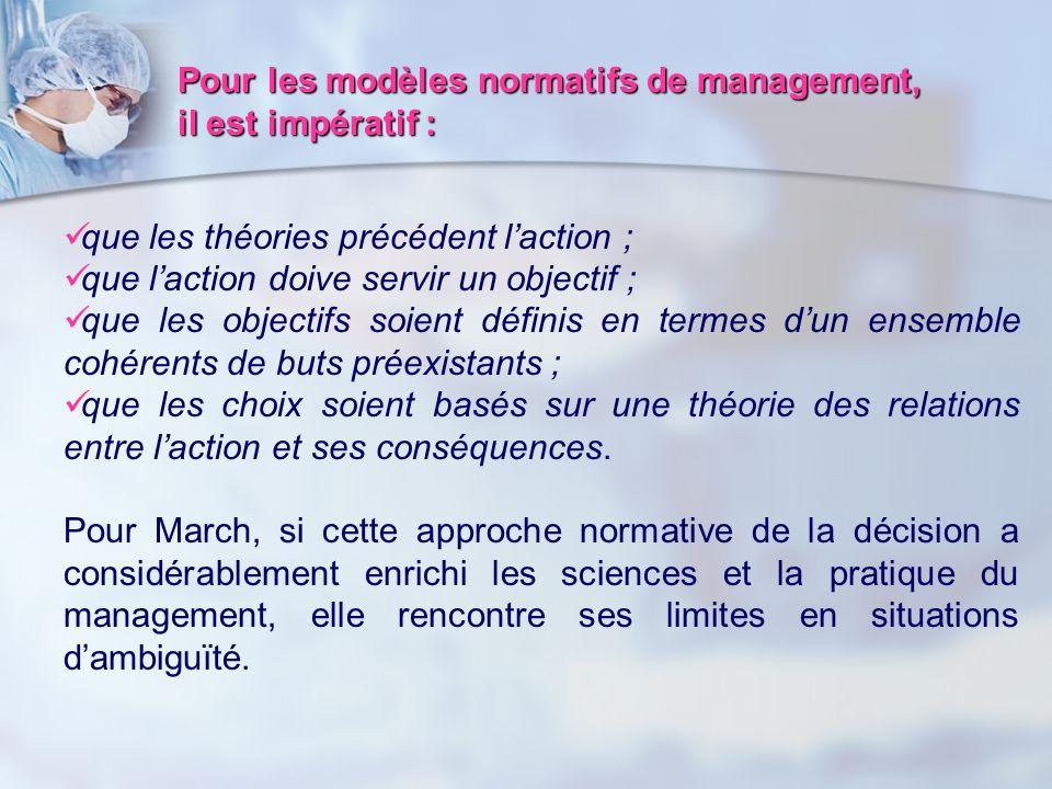 Pour les modèles normatifs de management,