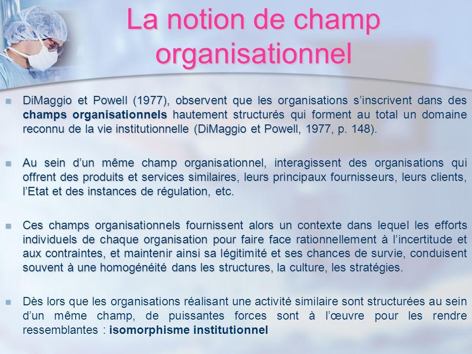 La notion de champ organisationnel