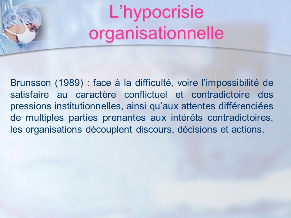 L'hypocrisie organisationnelle