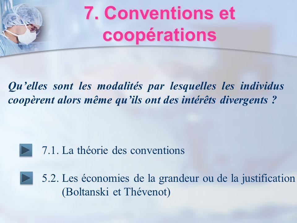 7. Conventions et coopérations