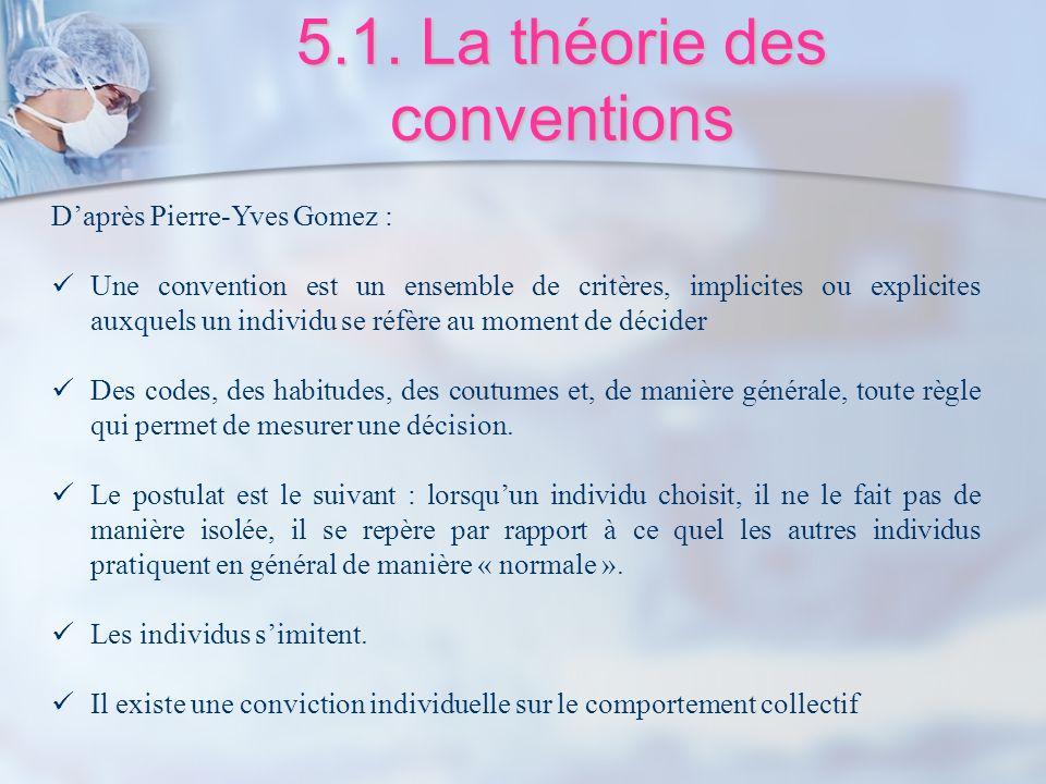 5.1. La théorie des conventions