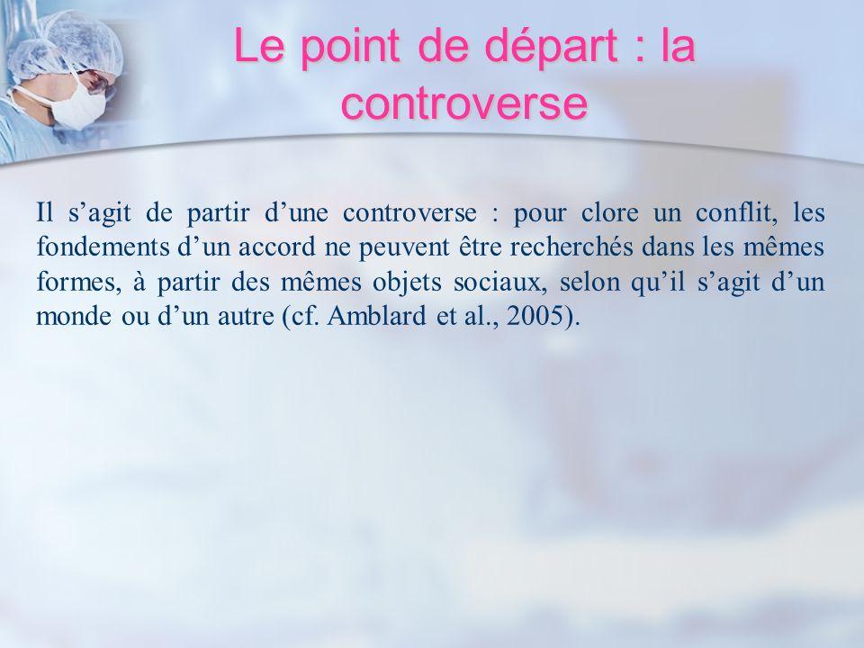 Le point de départ : la controverse