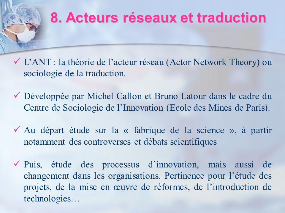 8. Acteurs réseaux et traduction