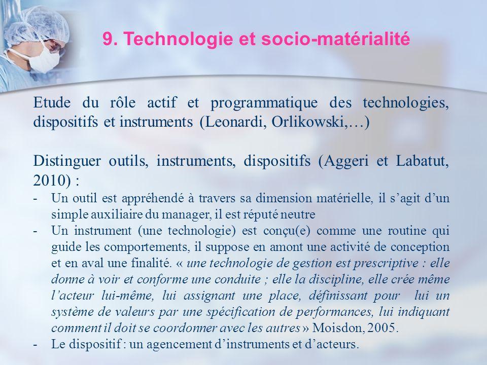 9. Technologie et socio-matérialité