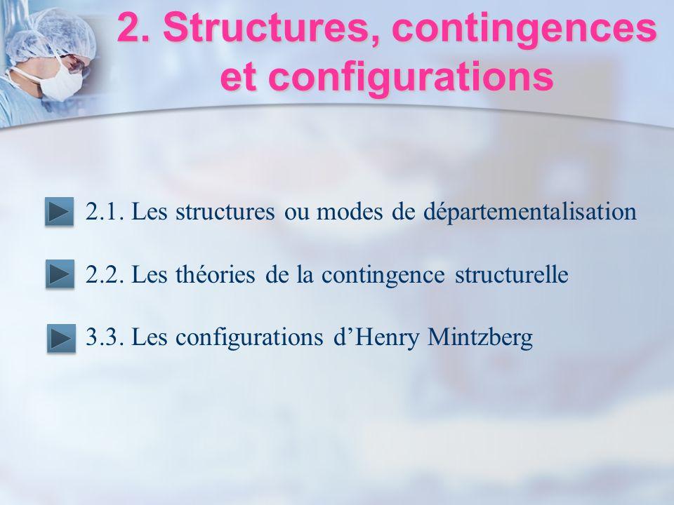 2. Structures, contingences et configurations