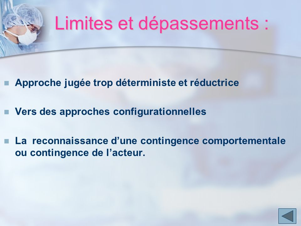 Limites et dépassements :