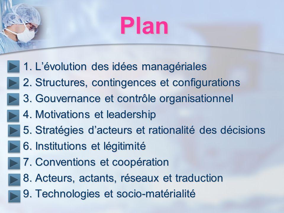Plan 1. L'évolution des idées managériales