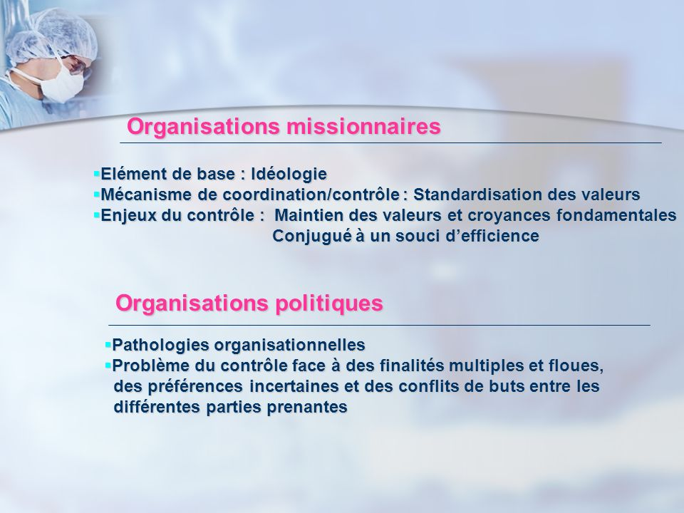 Organisations missionnaires