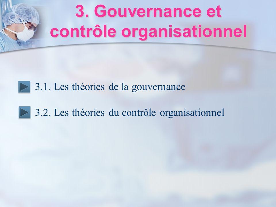 3. Gouvernance et contrôle organisationnel