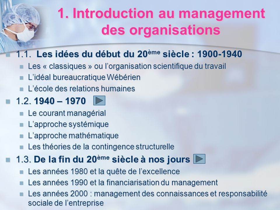 1. Introduction au management des organisations