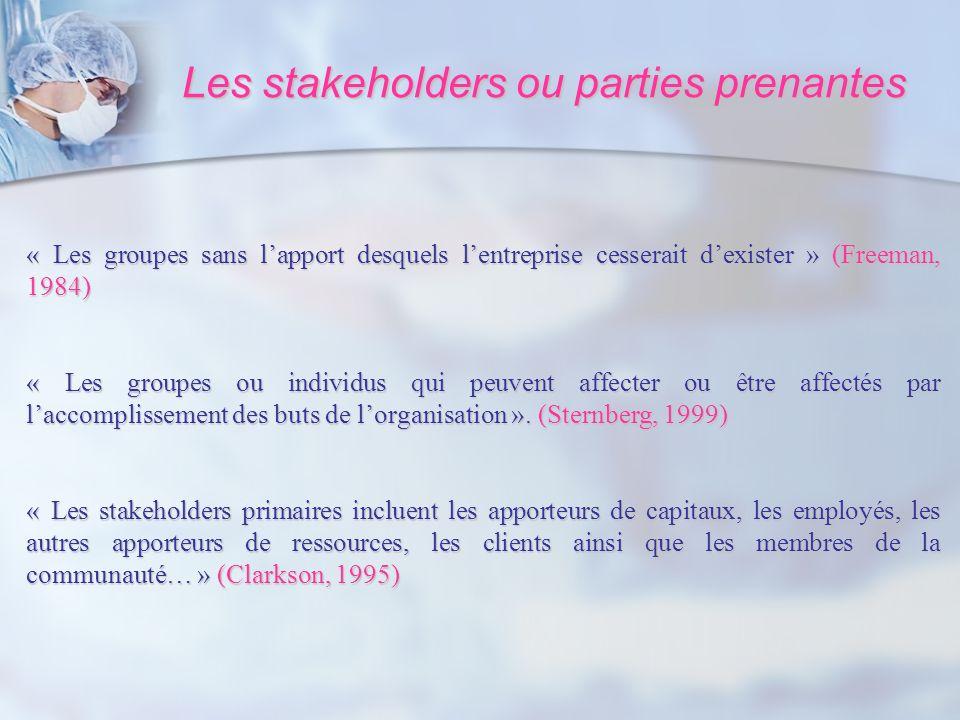 Les stakeholders ou parties prenantes