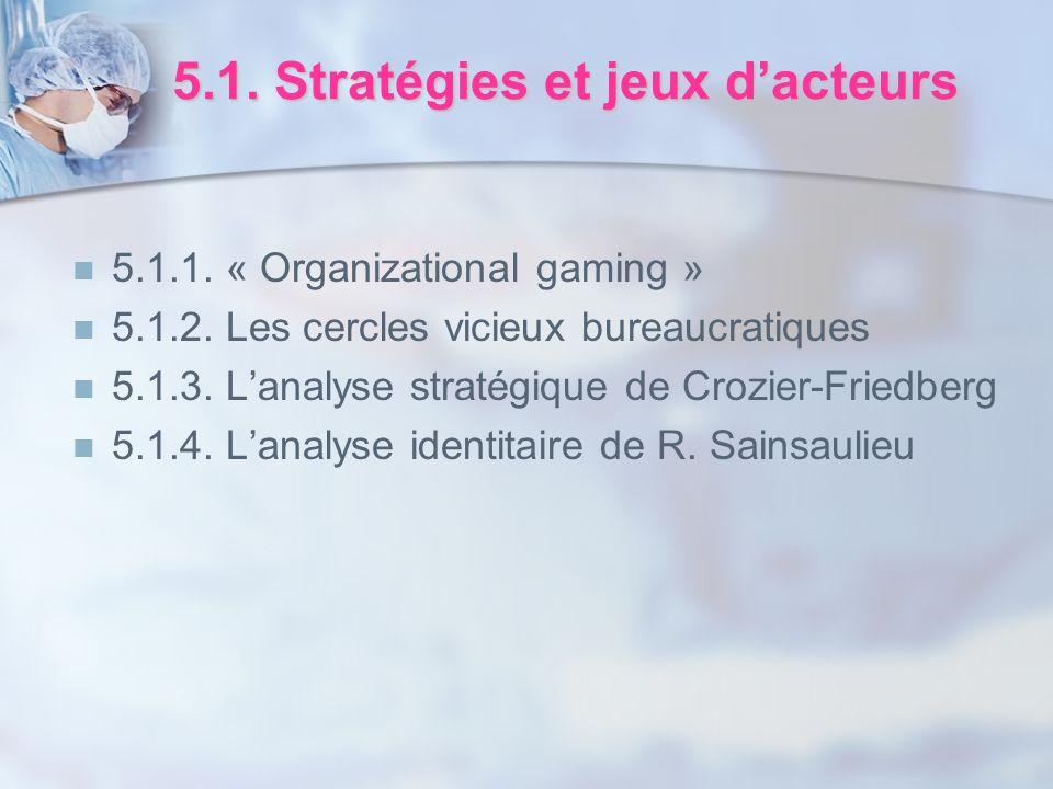 5.1. Stratégies et jeux d'acteurs