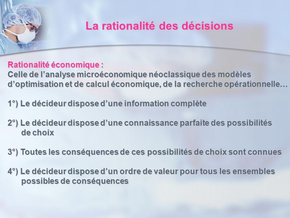 La rationalité des décisions