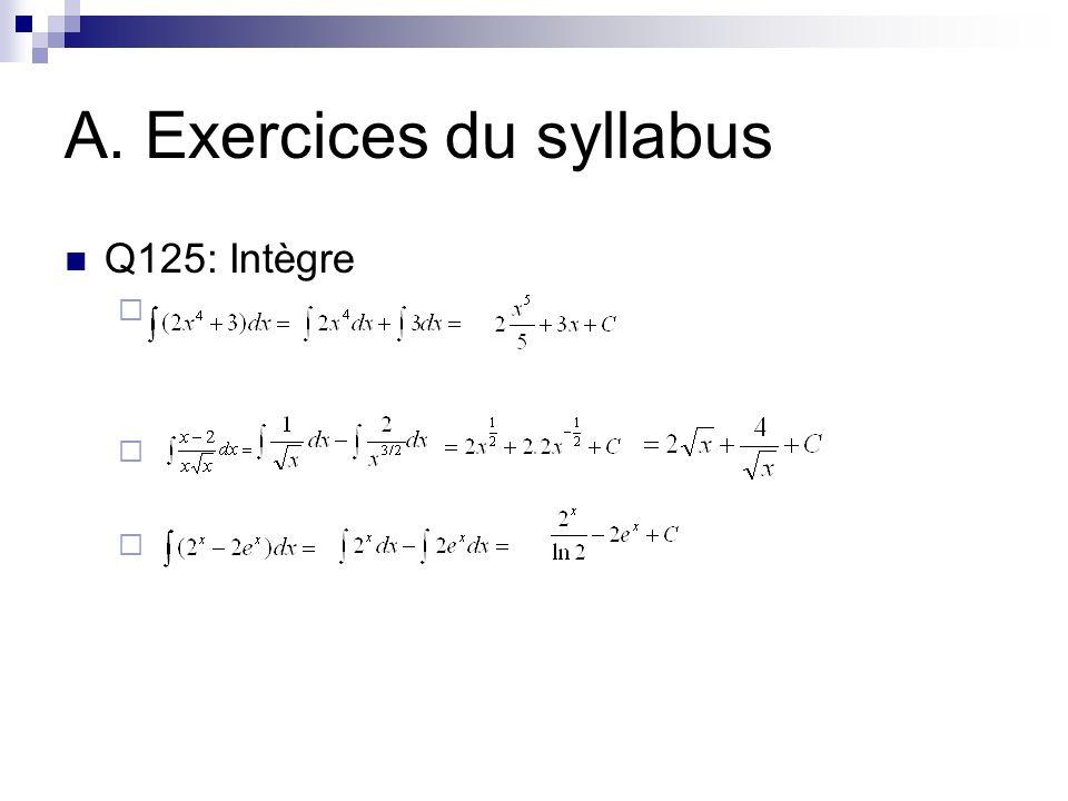 A. Exercices du syllabus
