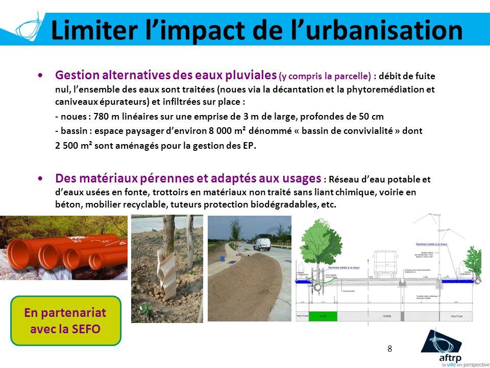 Limiter l'impact de l'urbanisation