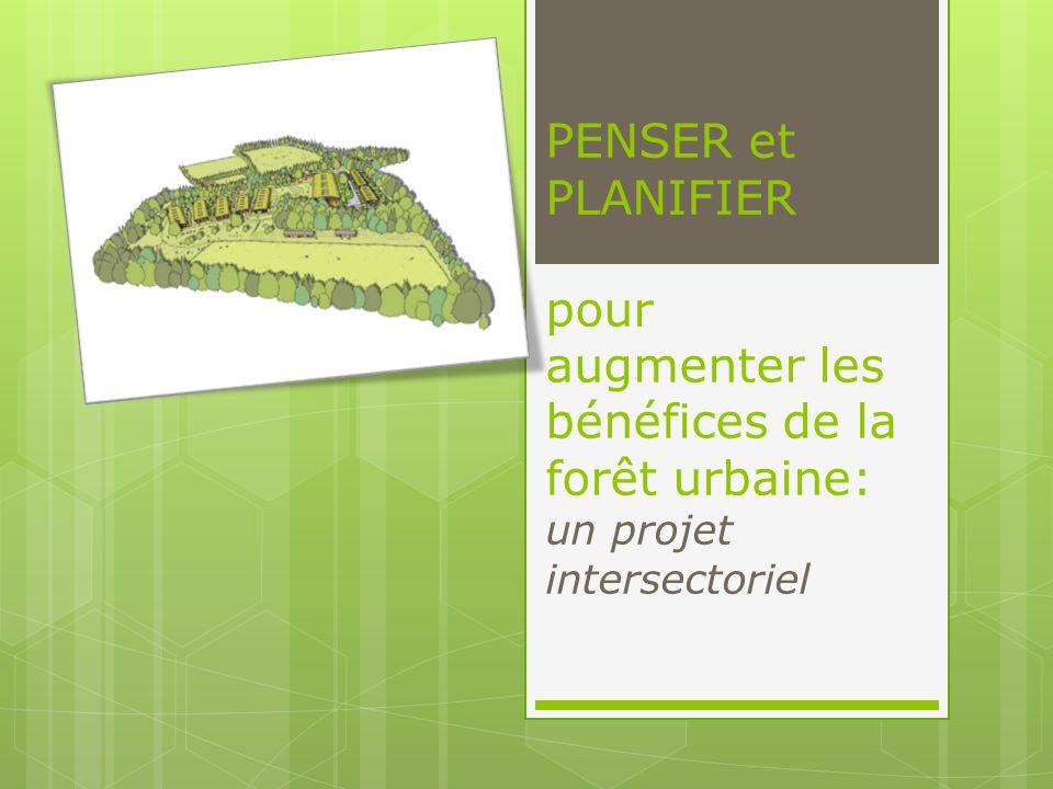 PENSER et PLANIFIER pour augmenter les bénéfices de la forêt urbaine: un projet intersectoriel