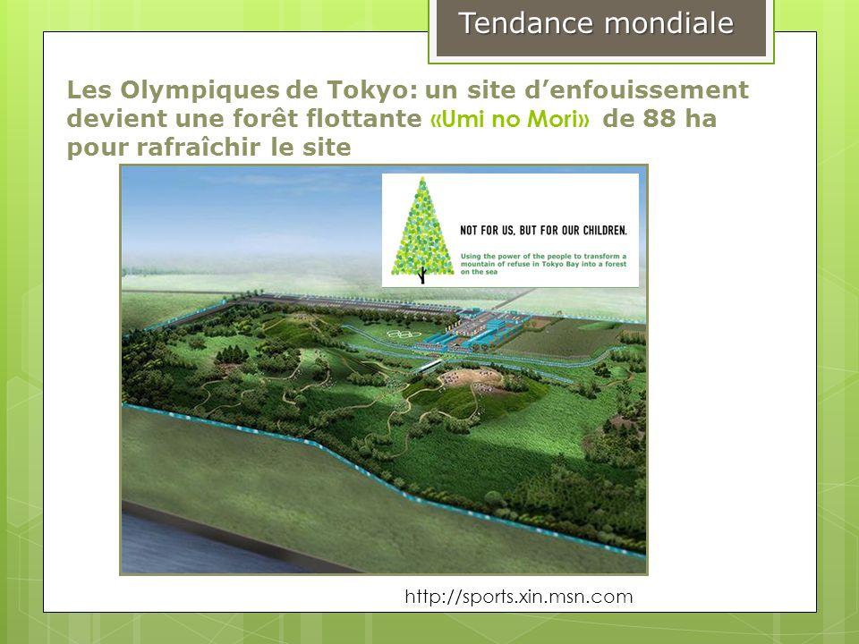 Tendance mondiale Les Olympiques de Tokyo: un site d'enfouissement devient une forêt flottante «Umi no Mori» de 88 ha pour rafraîchir le site.