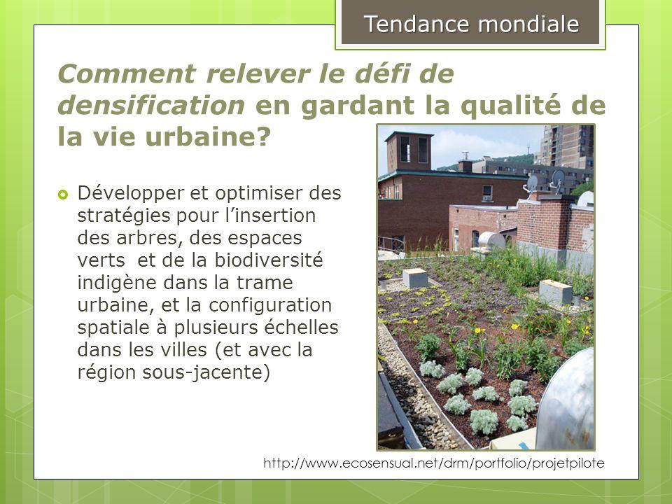 Tendance mondiale Comment relever le défi de densification en gardant la qualité de la vie urbaine