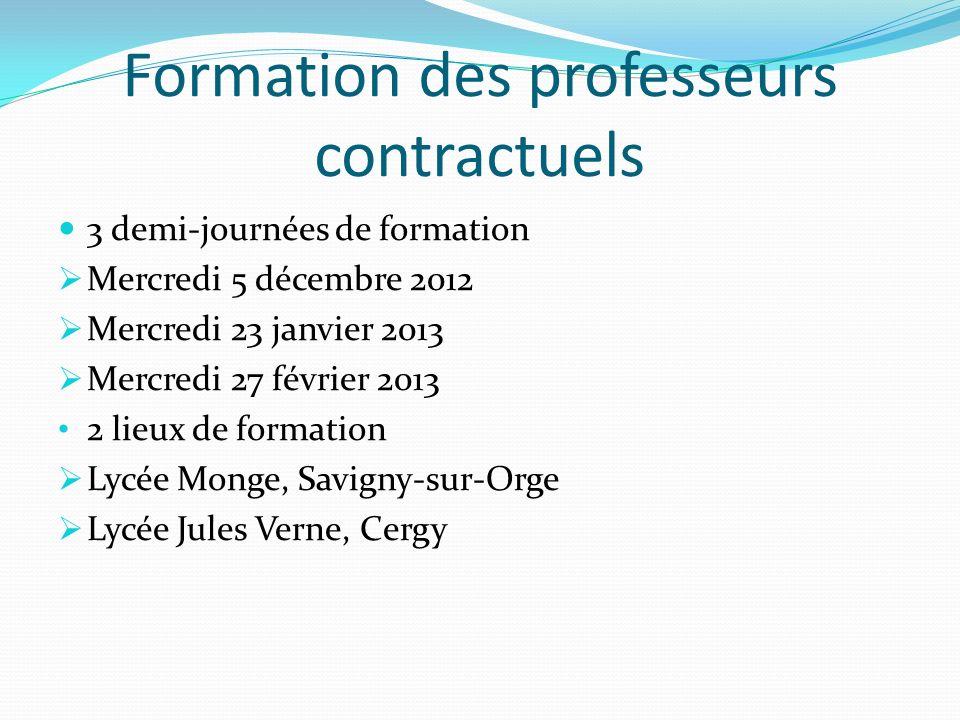 Formation des professeurs contractuels