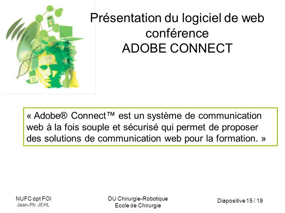 Présentation du logiciel de web conférence ADOBE CONNECT