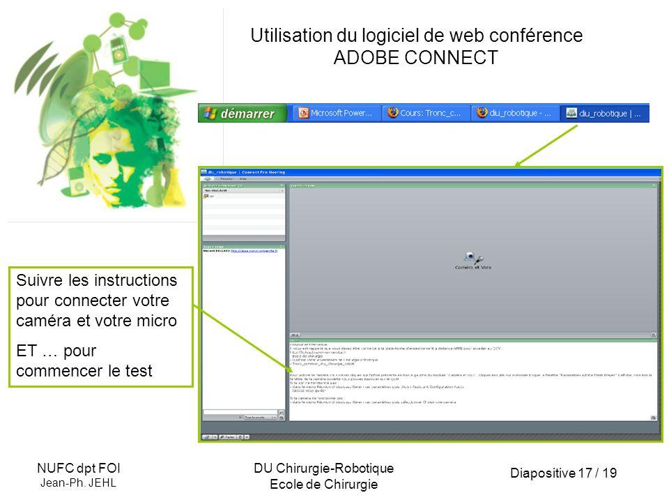 Utilisation du logiciel de web conférence ADOBE CONNECT