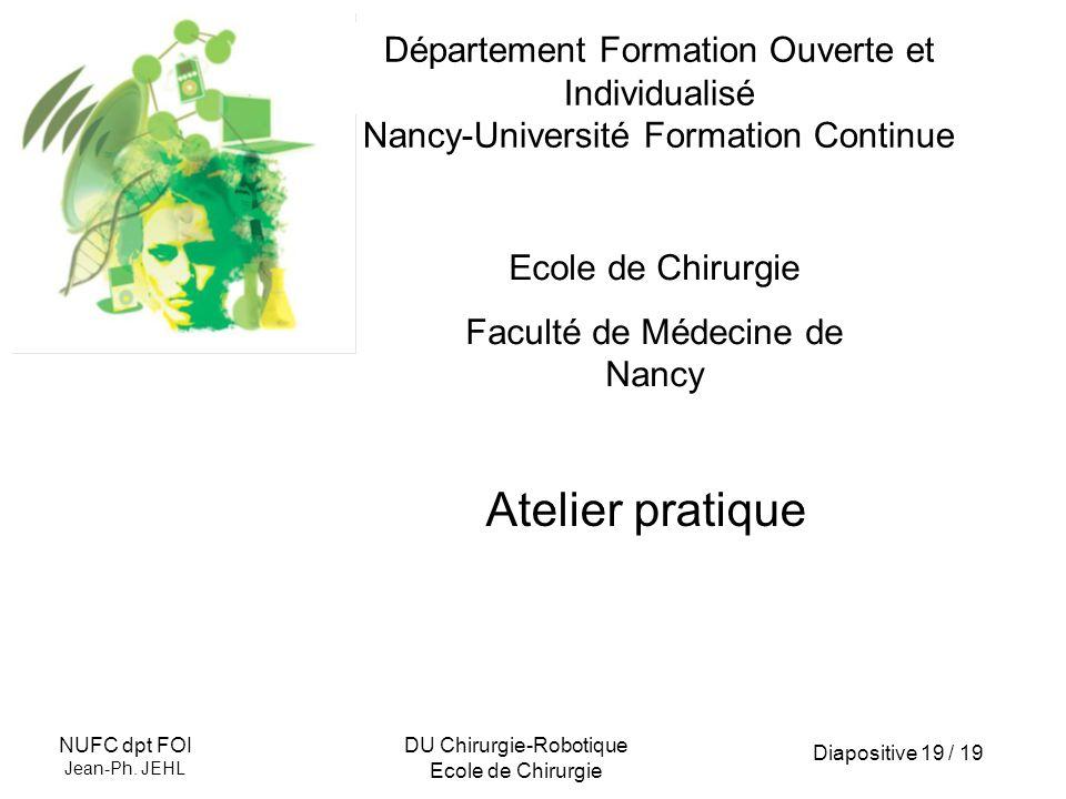 Département Formation Ouverte et Individualisé Nancy-Université Formation Continue