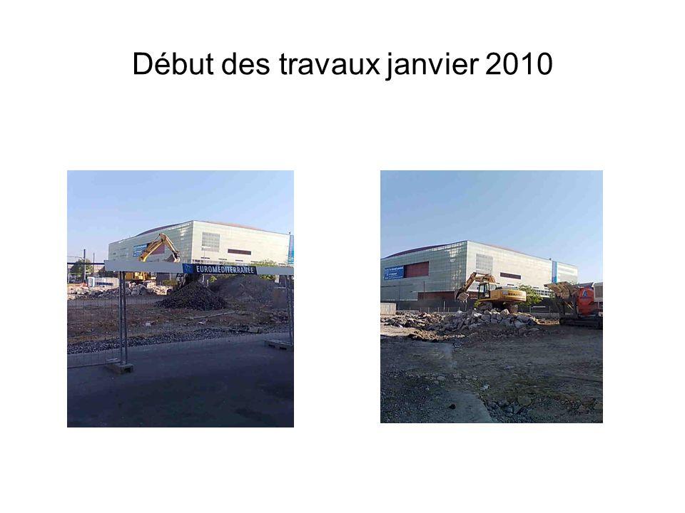 Début des travaux janvier 2010