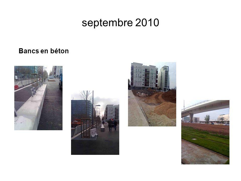 septembre 2010 Bancs en béton