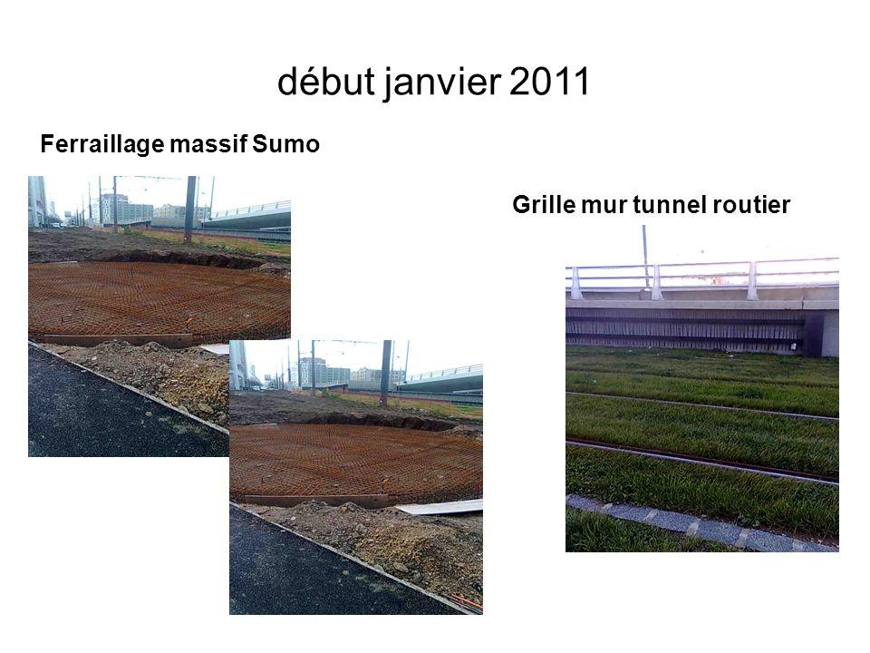 début janvier 2011 Ferraillage massif Sumo Grille mur tunnel routier