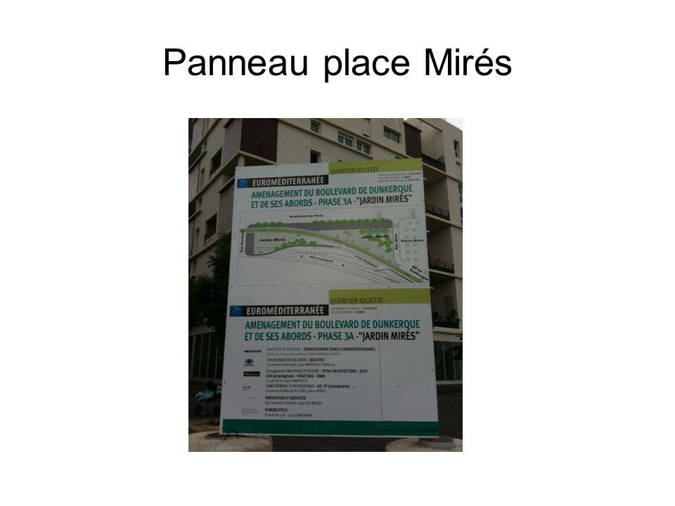 Panneau place Mirés
