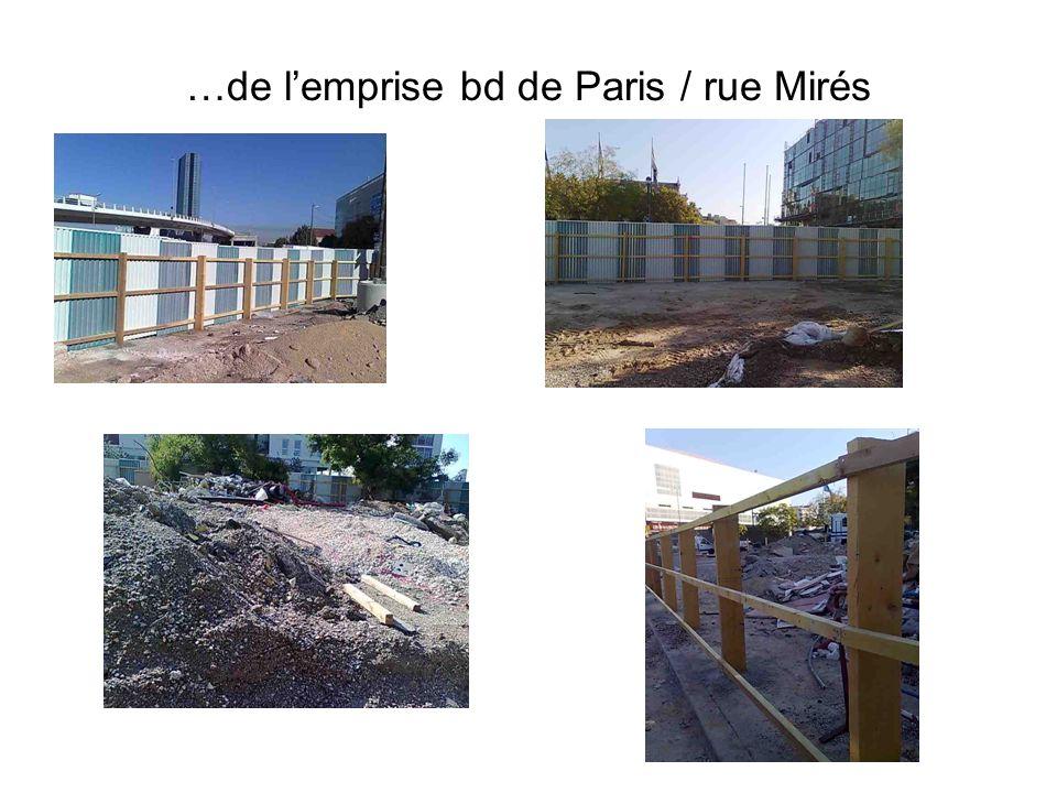 …de l'emprise bd de Paris / rue Mirés