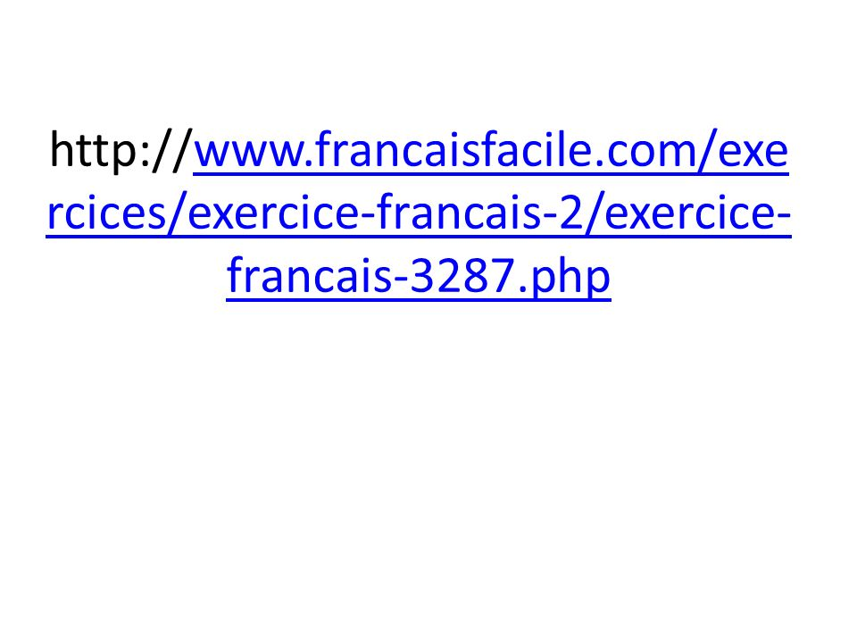 http://www. francaisfacile