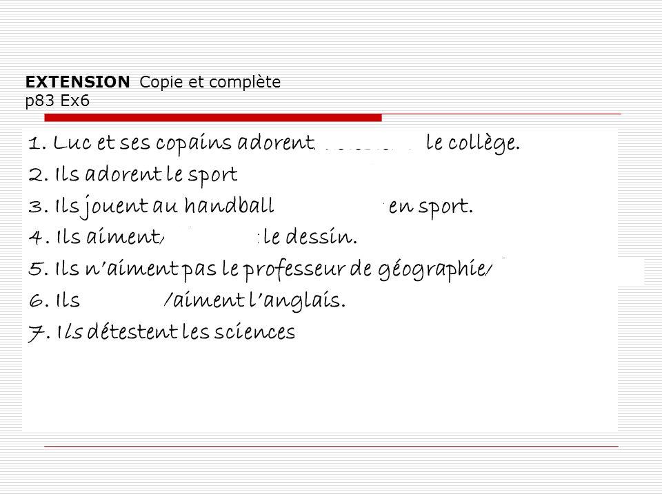 EXTENSION Copie et complète p83 Ex6