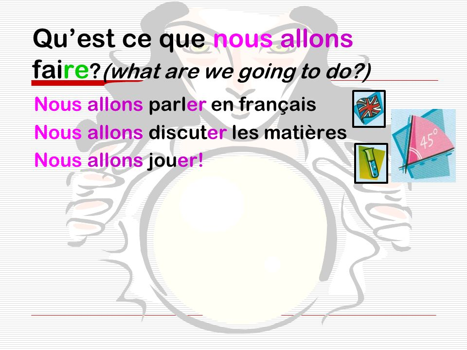 Qu'est ce que nous allons faire (what are we going to do )