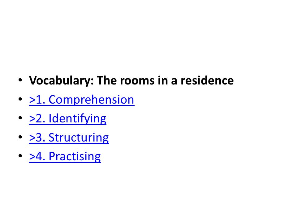 Vocabulary: The rooms in a residence