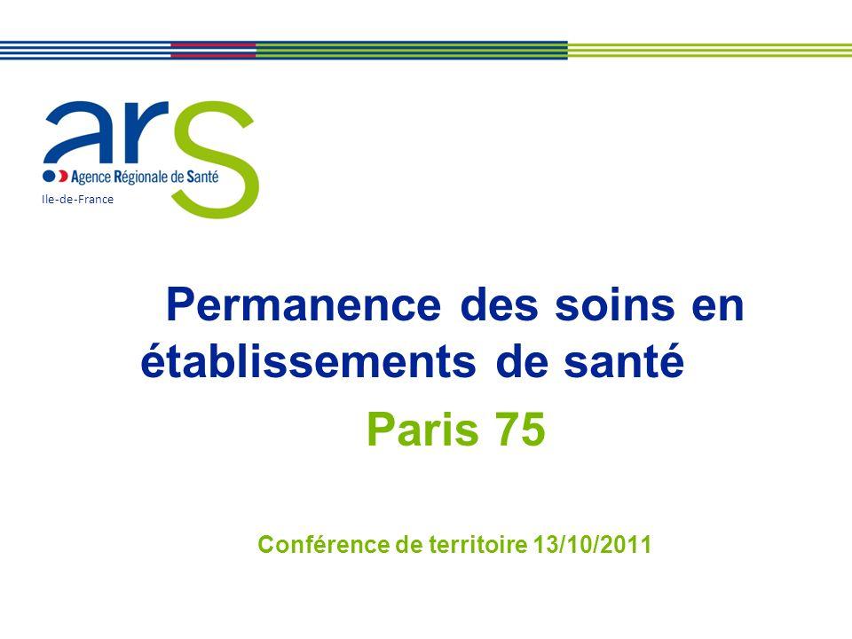 Permanence des soins en établissements de santé Paris 75