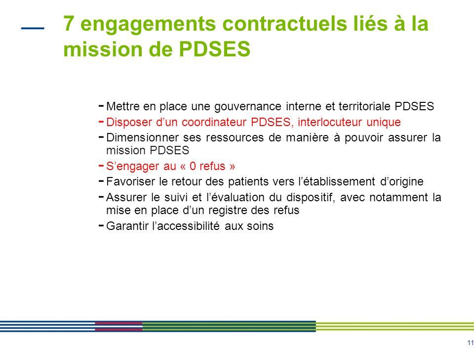 7 engagements contractuels liés à la mission de PDSES