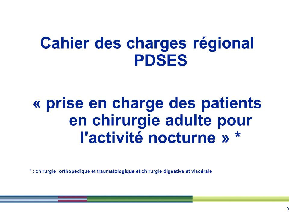 Cahier des charges régional PDSES