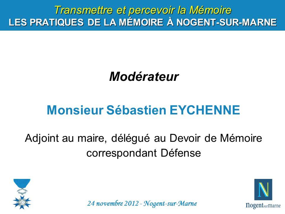 Monsieur Sébastien EYCHENNE 24 novembre 2012 - Nogent-sur-Marne