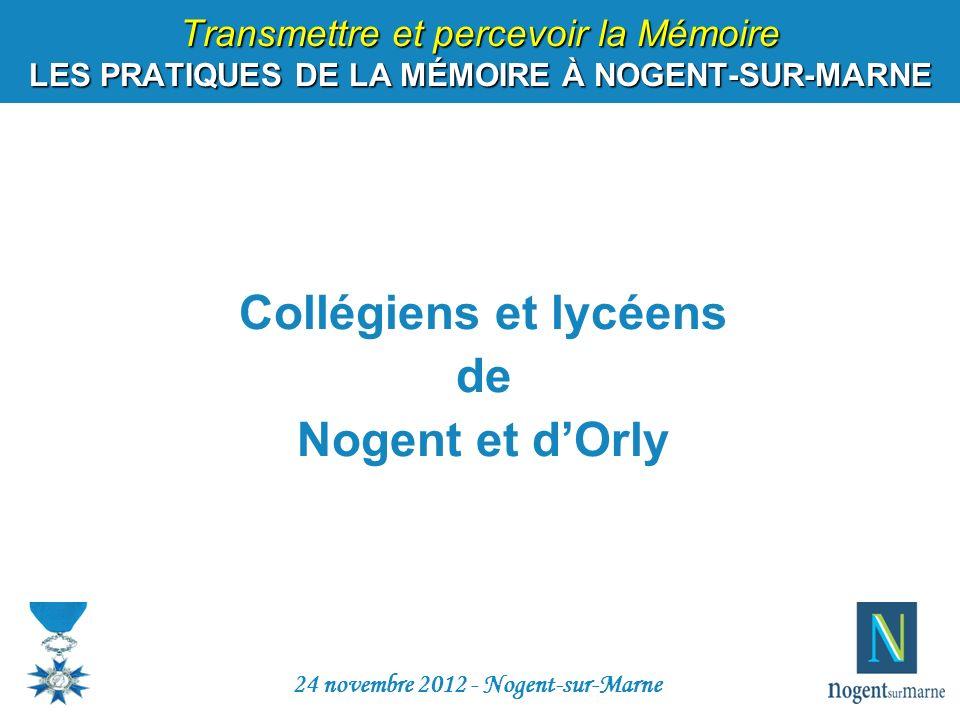 Collégiens et lycéens de Nogent et d'Orly
