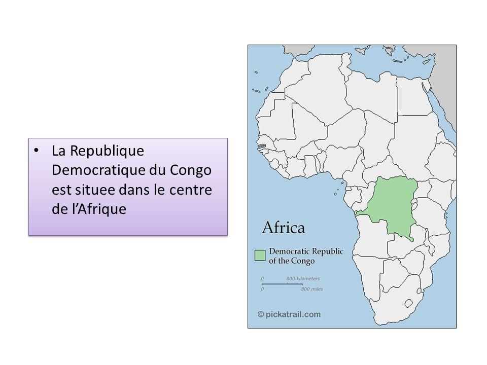 La Republique Democratique du Congo est situee dans le centre de l'Afrique