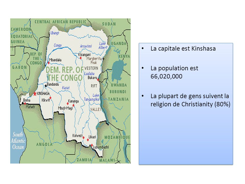 La capitale est Kinshasa