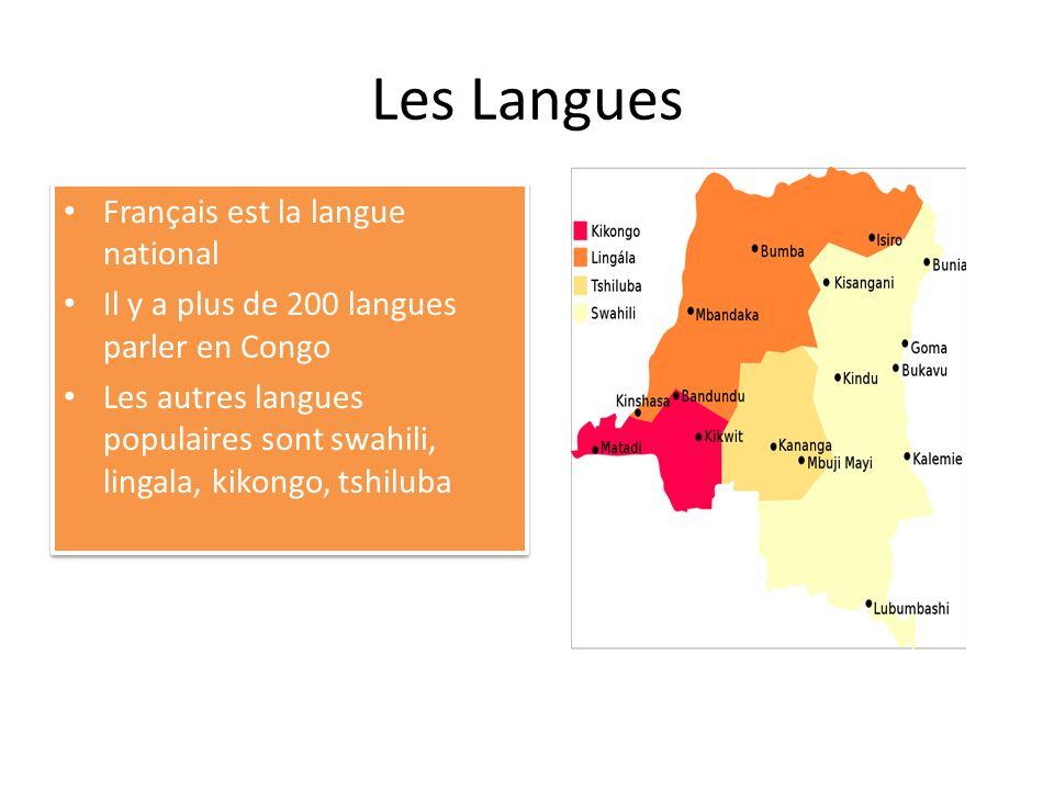 Les Langues Français est la langue national